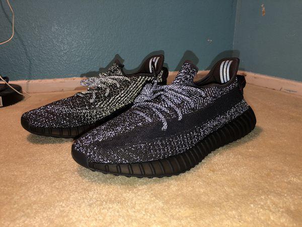 Yeezy static black reflective size 12. 5