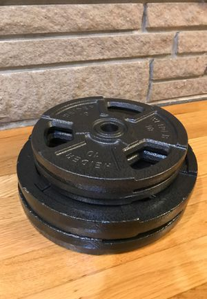Weight Plates (10 lbs and 25 lbs) For Standard Barbells for Sale in Seattle, WA
