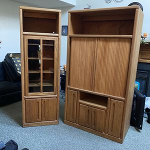 Solid Wood TV Cabinet for Sale in Virginia Beach, VA