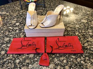 Christian Louboutin Predumule Suede Red Sole Mules (Size: 37.5/7.5) for Sale in Round Rock, TX