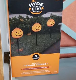 5ct Pumpkin Halloween Path Lights - Hyde & EEK! Boutique™ for Sale in Silver Spring, MD