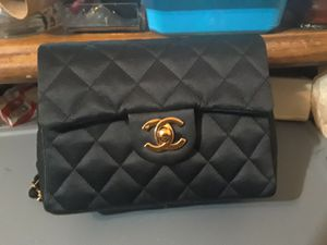 ☆ CHANEL ☆ BLACK QUILTED ☆ SATIN BAG ☆ for Sale in Las Vegas, NV