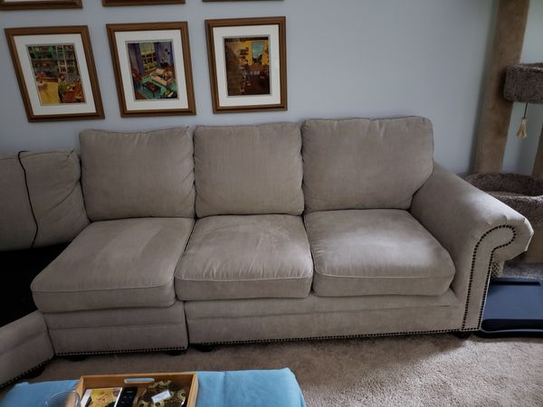 Free couch - half of our sectional (only one arm)