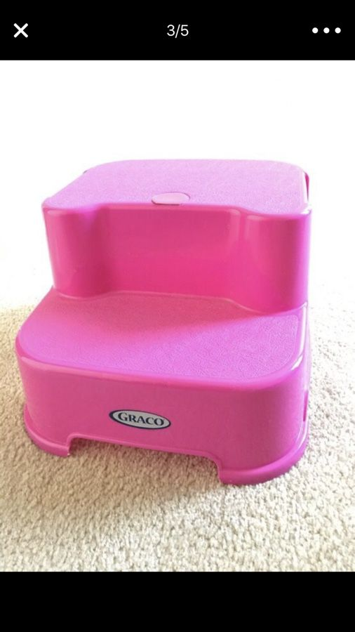 Phenomenal Graco Transitions Step Stool Pink 5 For Sale In Bralicious Painted Fabric Chair Ideas Braliciousco