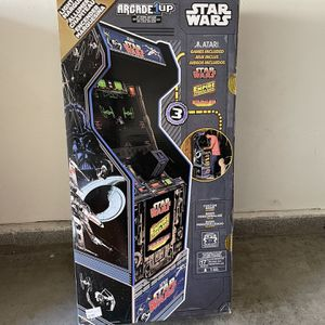 Arcade 1up Star Wars W/ Custom Riser & Light Up Marquee , Brand New & Sealed for Sale in Ladera Ranch, CA