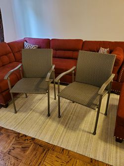Brand New Set of Matching Grey Metal/Mesh Patio Chairs for Sale in Silver Spring,  MD
