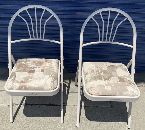 TWO LIKE NEW VERY STURDY FOLDING CHAIRS THAT WERE PART OF A $130K MOTORHOME ALSO ADVERTISED HERE. $19.96 EACH