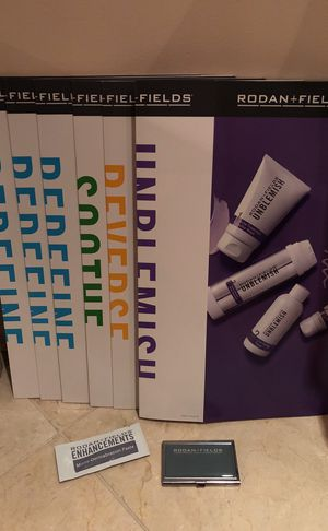 Rodan +Fields Promotional Posters, Sample Microdermabrasion, Business Cards Holder exclusive to R+F for Sale in Houston, TX