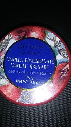 Orchard and Vine: Vanilla Pomegranate Bath Salts for Sale in Lake, MI