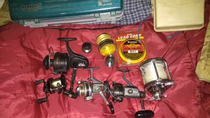 Most of all name brands of fishing reels as is for Sale in Pomona, CA