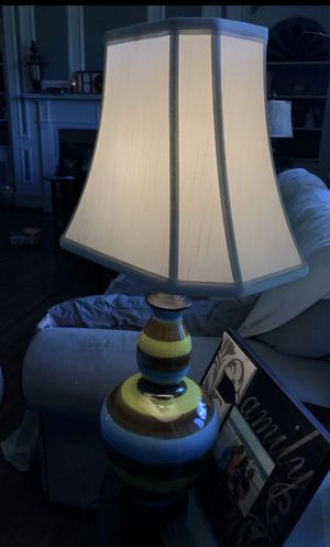 Striped Lamp in perfect condition with new bulb for Sale in Greenville, SC
