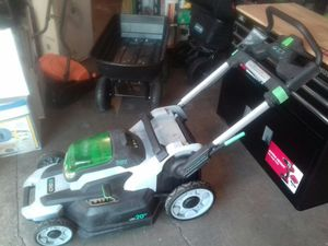 Go 20 inch electric mower with 56 volt lithium ion battery for Sale in Phoenix, AZ