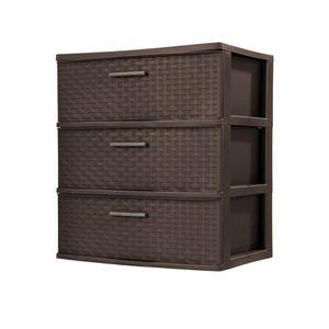 Sterlite 3 drawer plastic weave storage for Sale in Anaheim, CA