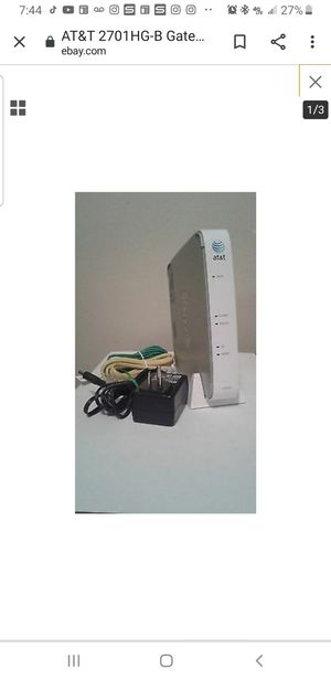Wireless Router At&t 10.00 for Sale in Clovis, CA