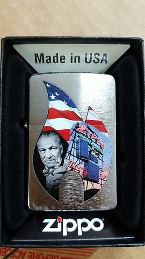 Zippo flame collage brushed chrome 29075 for Sale in Los Angeles, CA