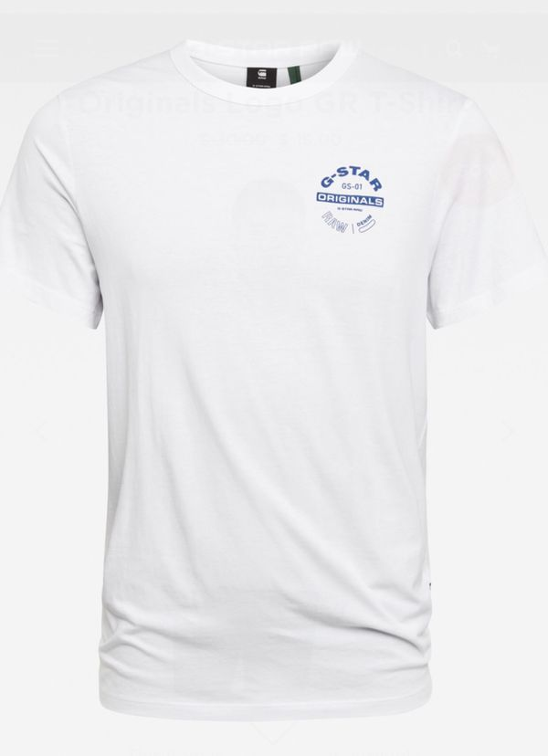 G-STAR RAW Originals Official Men's White Graphic T-Shirt Size XL Brand new. Ships same day.