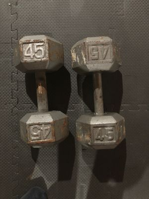 Set of 45lbs Dumbbells for Sale in Hoffman Estates, IL