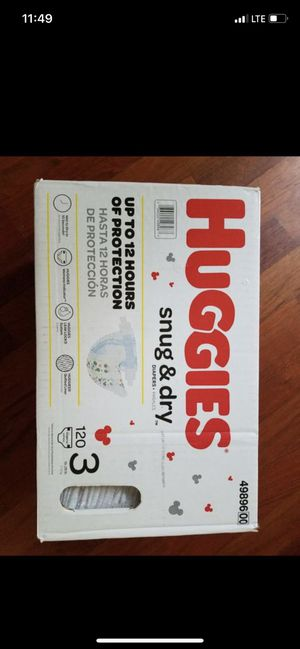 Huggies size 3 for Sale in Vancouver, WA