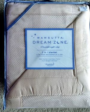 NEW! Gorgeous! Wamsutta Dream Zone Blanket Sheet Full / Queen Pink Micro Cotton for Sale in Gaithersburg, MD