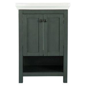 H.D.C. Hanley 23-3/4 in. W x 18 in. D Bath Vanity Cabinet Only in Charcoal Grey for Sale in Dallas, TX
