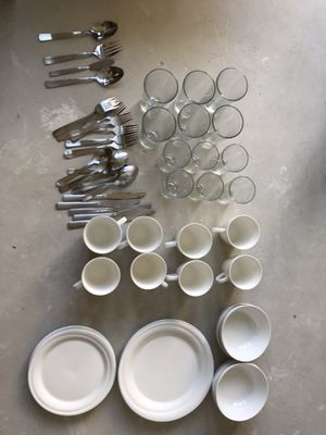 Plates, cups, utensils, knives, large cooking utensils and crock pot! for Sale in Los Angeles, CA