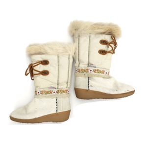 TECNICA Womens US 6.5 EUR 37 13 Cream Italian Fur Apres skí Winter Snow Boots Made in Italy for Sale in Ontario, CA