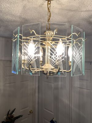 Satin Brass finish chandelier for Sale in Mansfield, TX