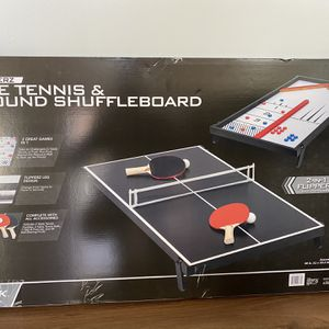 Brand New Table Top ping pong & Shuffle Board Table for Sale in Wichita, KS