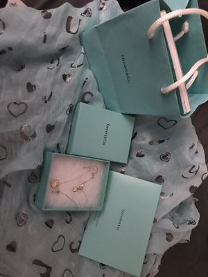 Tiffany Heart n Key necklace for Sale in San Jose, CA