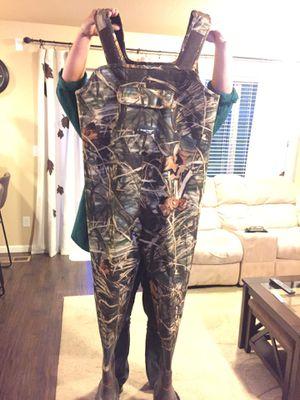 Fishing suit shoe size 13 for Sale in Ridgefield, WA