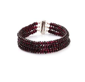 Genuine garnet and sterling silver bracelet for Sale in West Richland, WA