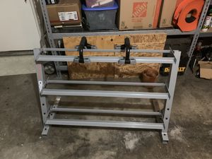 Fitness gear pro dumbbell rack (w perfect push-up) for Sale in Watauga, TX
