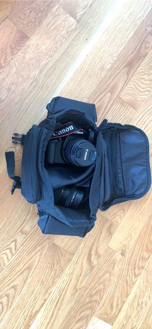 anon Digital SLR Camera Kit [EOS Rebel T6] with EF-S 18-55mm and EF 75-300mm Zoom Lenses - Black for Sale in Brooklyn, NY