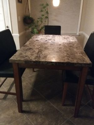 Granite-top Kitchen Table w/benches for Sale in Clayton, NC