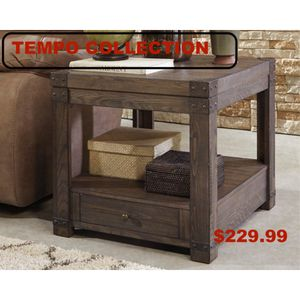 Rectangular End Table, Greyish Brown, #T846-3 for Sale in Downey, CA