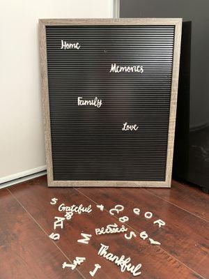 retro vintage framed letter board for Sale in Compton, CA