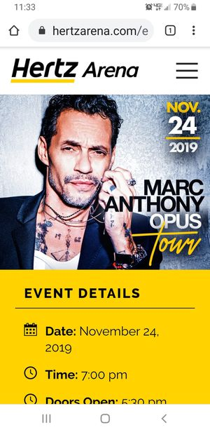 Marc Anthony ticket for Sale in Fort Myers, FL
