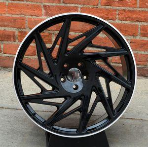 """New 24"""" R25 5x120 / 5x130 Black Machine Lip Wheels for Sale in Miami, FL"""