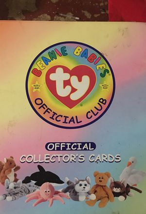 beanie babies official club collectors cards for Sale in Baltimore, MD