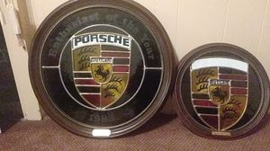Vintage Stained Glass Porsche Crest for Sale in Belmont, CA