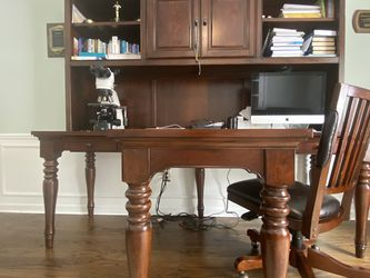 Solid Wood Home Office Set/ Sleeper Sofa for Sale in Troy,  MI