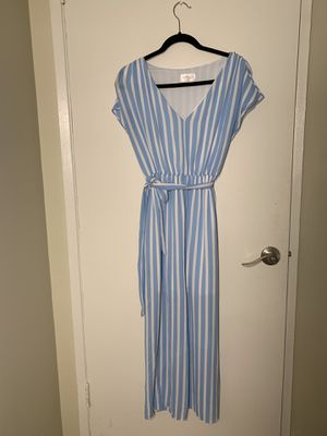 Maxi dress blue and white stripes medium for Sale in Torrance, CA