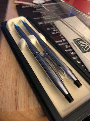Chrome Cross pen and pencil set for Sale in Durham, NC