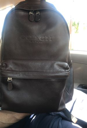 Coach dark brown leather backpack for Sale in Torrance, CA