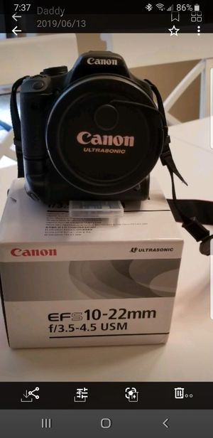 CANON REBEL T1I CAMERA AND EFS 10-22mm LENSES (3 diff lenses )EFS 18-55 and EFS for Sale in Tacoma, WA