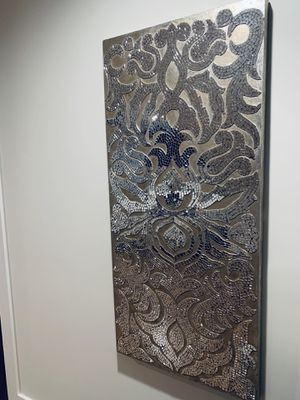 Champagne Mirrored Mosaic Damask Wall Panel for Sale in Chicago, IL