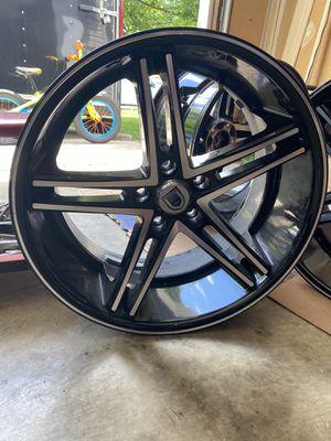 20inch 20x10 ASANTI ABL7 Machined wheel rim 5x120 +35 One set of 4. for Sale in Fort Washington, MD