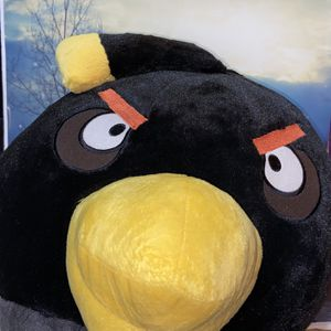 Huge JUMBO Angry Birds Black Bomber plush for Sale in Bellflower, CA