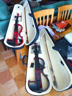 2 Electric Violins w/Case for Sale in Alexandria, VA