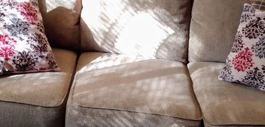 Couch With Throw Pillows for Sale in Marietta,  GA